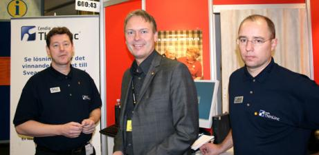 Hans Leidebring, försäljningschef Thinlinc, Inge Hansson, IT-chef, Karlstad kommun, Johan Igheimer, VD, Thinlinc