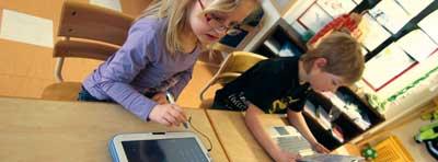 Barn i klass 1 på Nödingeskolan.