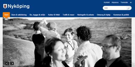 Nyköpings kommun lansrar en ny webbplats.
